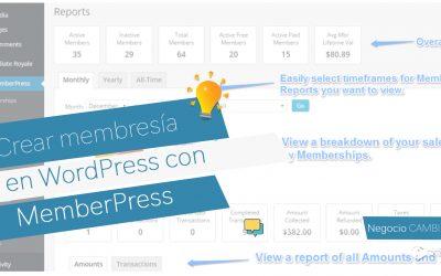 Crear membresía en WordPress con Memberpress
